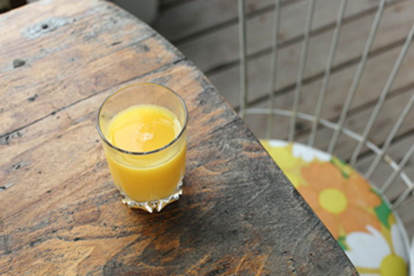 Orange juice for blog